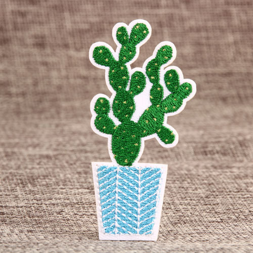 Prickly Pear Embroidered Patches