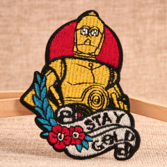 Robot C-3PO Custom Embroidered Patches