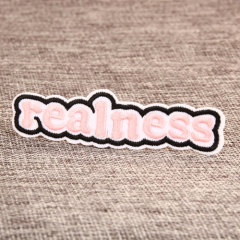 Realness Embroidered Patches