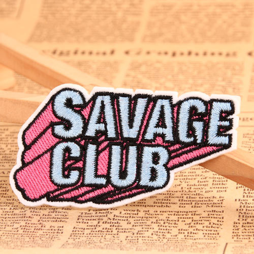 SAVAGE CLUB Iron On Embroidered Patches
