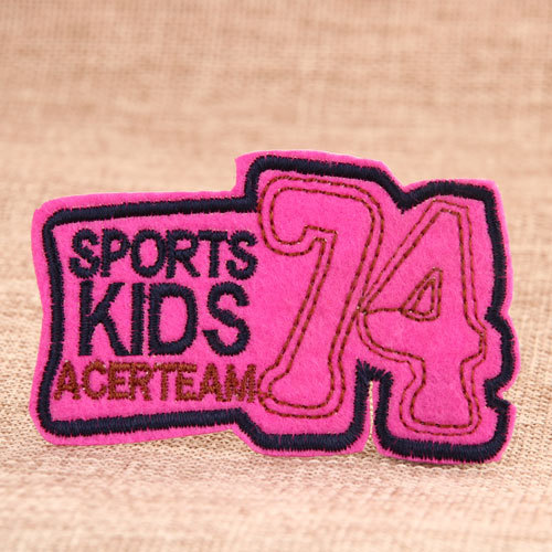 Sports Kids Custom Embroidered Patches No Minimum