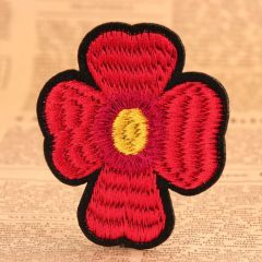 Red Flower Cheap Patches