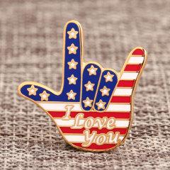 Love Gesture Custom Enamel Pins