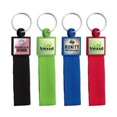 Polyester Keyring Custom Keychains