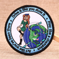 Airline Stewardess Embroidered Patches