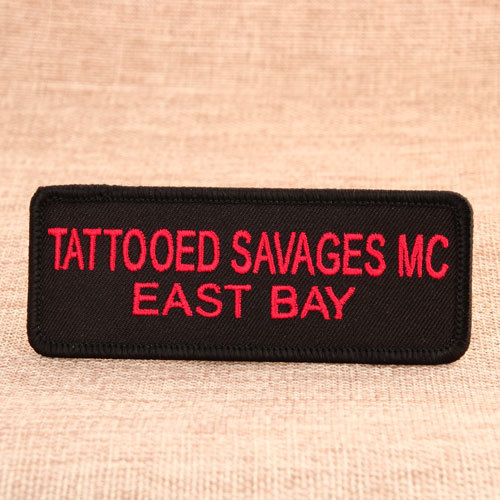 The Slogan Iron On Embroidered Patches