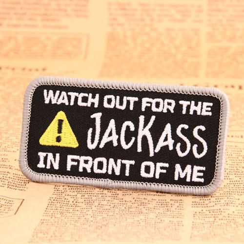 Warning Sign Embroidered Patches