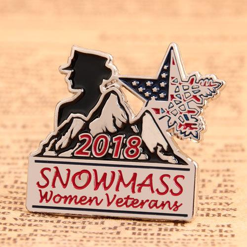 Snowmass Women Veterans Custom Pins
