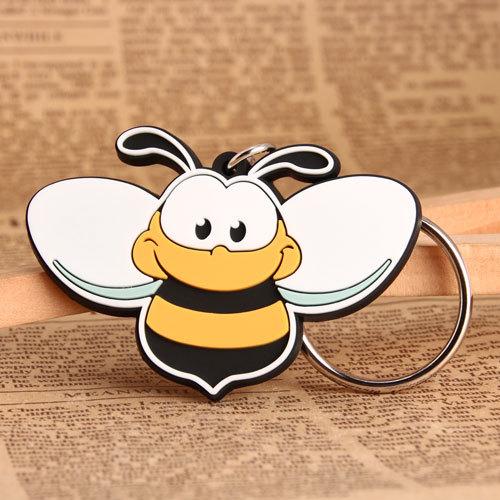Custom Bee PVC Keychain