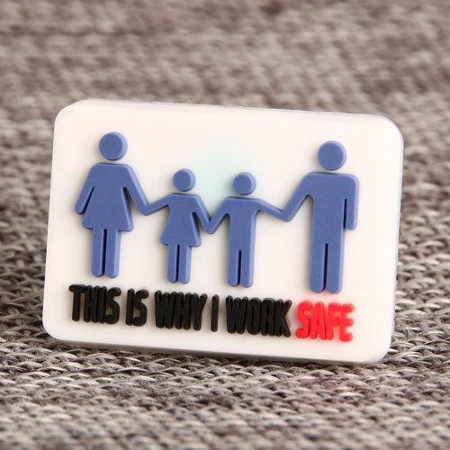 Work Safety PVC Lapel Pin
