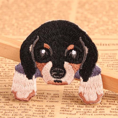 Lying Dog Custom Iron On Patches
