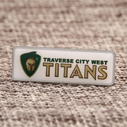Traverse City West Titans Custom Lapel Pins