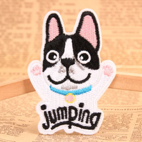 Jumping Dog Custom Made Patches