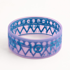 Blue debossed fonts Wristbands