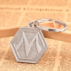 Hexagon Custom Keychains