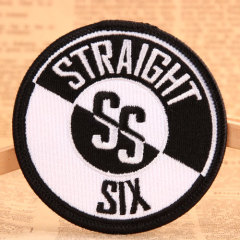 Straight Six Custom Iron On Patches