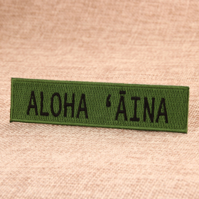 Aloha Custom Embroidered Iron On Patches