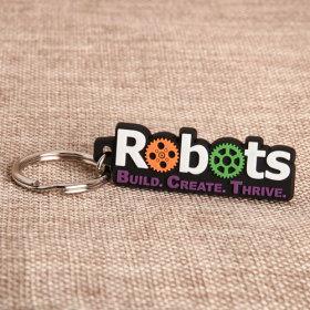 Robots PVC Keychain