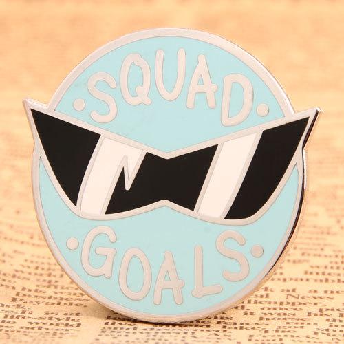 Squad Goals Custom Metal Pins