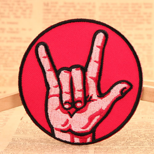 The Gesture of Peace Embroidered Patches
