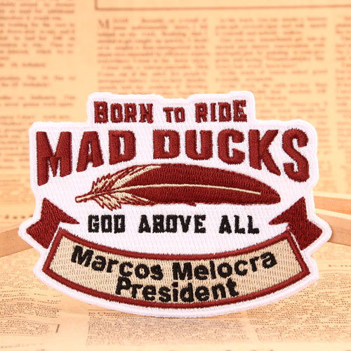 Mad Ducks Embroidered Patches