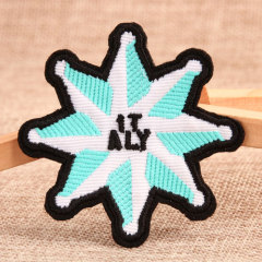 Eight Pointed Star Embroidered Patches