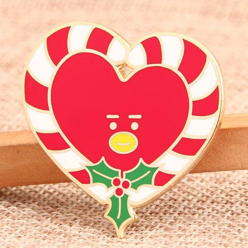 Christmas Heart Custom Pins