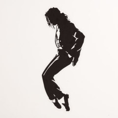 Michael Jackson Clear Stickers