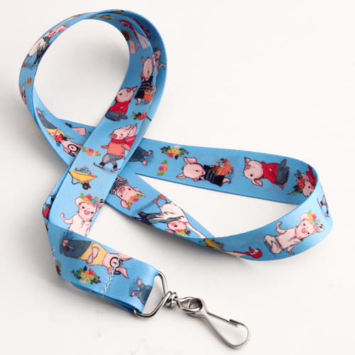 Cute Pig Cartoon Lanyards