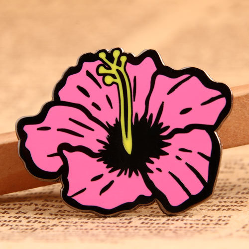 Pink Flower Lapel Pins