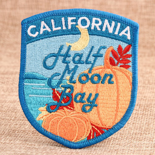 Half Moon Bay Embroidered Patches
