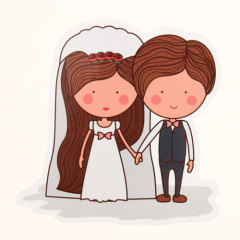 The Bride And Groom Custom Stickers