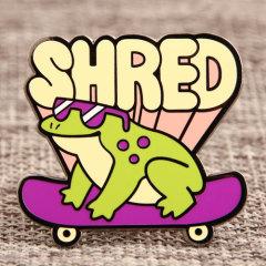 Shred Frog Custom Enamel Pins