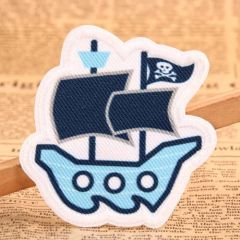 Pirate Ship Woven Patches