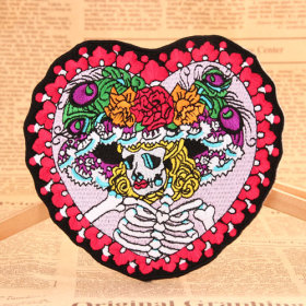 The Girl Skull Patches