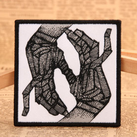 Bone Band Woven Patches