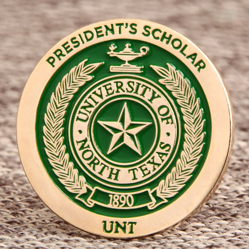 UNT President Scholar Custom Pins