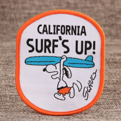 Snoopy Surf Woven Patches