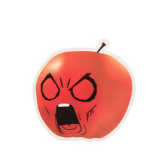 Angry Apple Custom Stickers