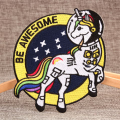Colorful Tail Unicorn Embroidered Patches