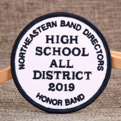High School Embroidered Patches