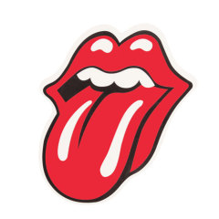 Rolling Stones Logo Clear Stickers
