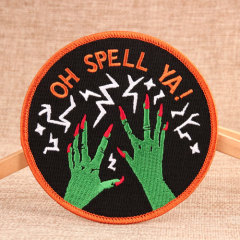 Green Hands Embroidered Patches