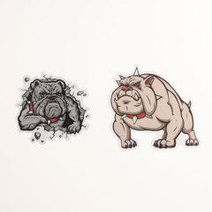Cartoon Pit Bulls Custom Stickers