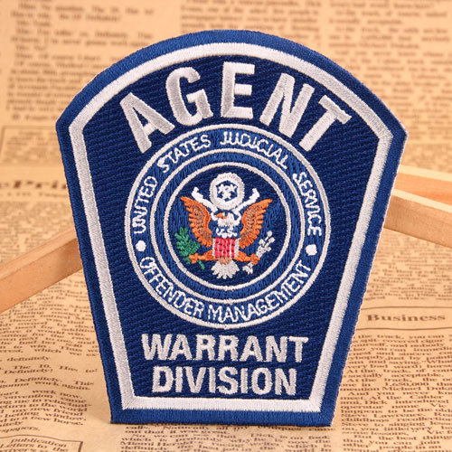 Agent Custom Embroidered Patches