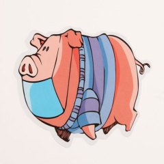 Cartoon Pig Custom Stickers