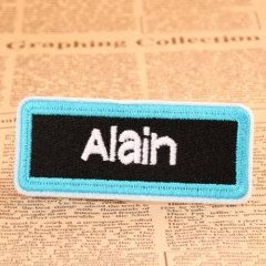 Alain Custom Iron On Patches