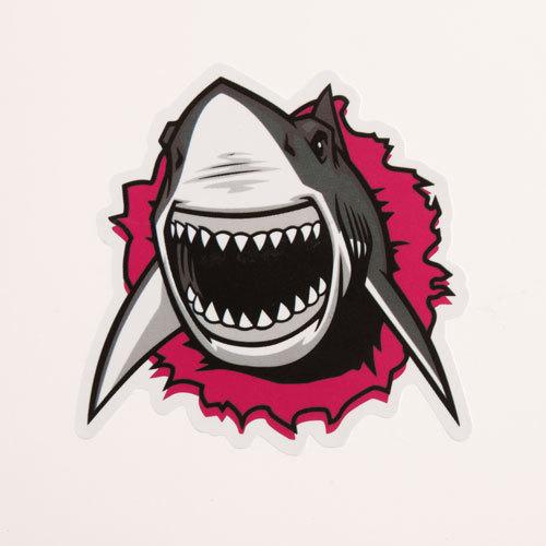 Cartoon Shark Custom Stickers