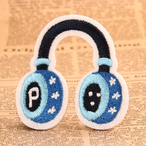 Blue Headphones Custom Patches Online
