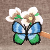 Butterfly Flower Custom Embroidered Patches